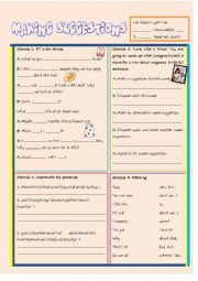 English Worksheet: Making Suggestions: Shall we...? How about we...?