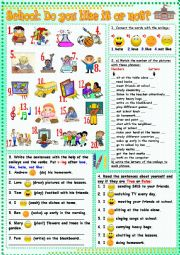 English Worksheet: School: Do you like it or not?