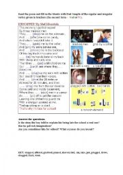 English Worksheet: KIDNAPPED (a poem + a pictonary)