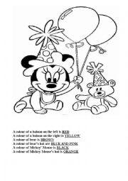 English Worksheet: Coloring page
