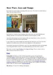 English Worksheet: Fashion store wars - Mango vs. Zara