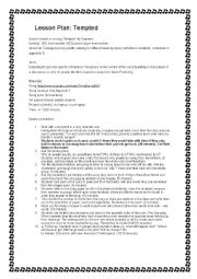 English Worksheet: TEMPTED BY SQEEZE