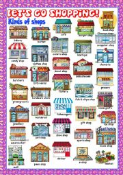 English Worksheet: Shopping Picture Dictionary#1