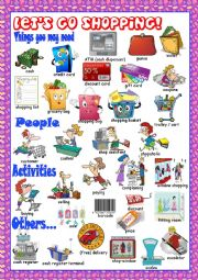 English Worksheet: Shopping Picture Dictionary#2