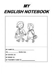 English Worksheet: My English Notebook