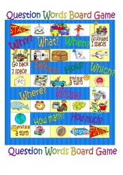 English Worksheet: Board Game - Question Words