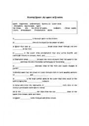 English Worksheet: Erosion