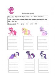 Great English Worksheet: My Little Pony