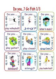 Free Time Activities/Do You...?/ Go Fish 1/3