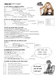 English Worksheet: Song