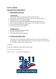English Worksheet: 9/11 firefighters