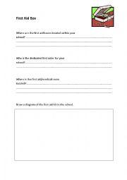 English Worksheet: First Aid Box