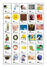 English worksheets: Diagraph and Triagraph Flashcards Set 1