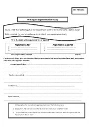 How to write an argumentative essay- technology