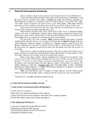 English Worksheet: Technology: robots