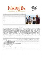 Movie: The Narnia Chronicles (3) Activities, Description of characters and Summary!