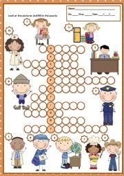English Worksheet: OCCUPATIONS - PUZZLE