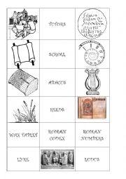English Worksheet: Roman Memotest