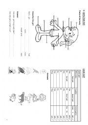 English Worksheet: Surprise minibook 4�  page 3