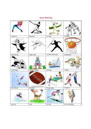 english worksheets the sports worksheets page 40. Black Bedroom Furniture Sets. Home Design Ideas
