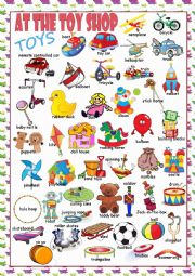 English Worksheet: At the Toy Shop (Toys) Picture Dictionary#1