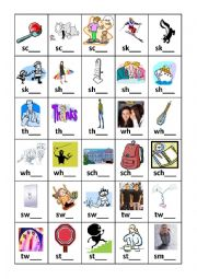 Diagraphs and Triagraphs Flashcard set 4