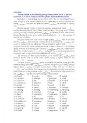 English Worksheet: fighting child marriage