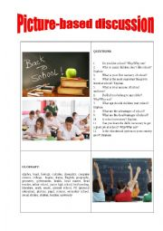 English Worksheet: Picture-based discussion school