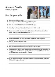 English Worksheet: Run For Your Wife