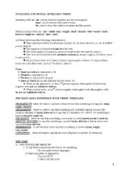 English Worksheet: Auxiliary and modal auxiliary verbs