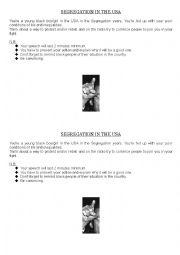 English Worksheet: Ways to rebel - Segregation