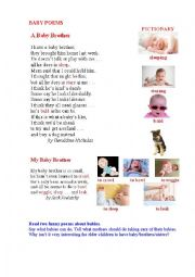 English Worksheet: BABY POEMS