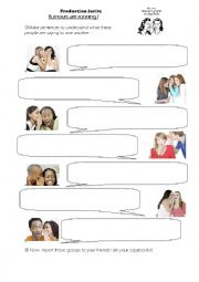 English Worksheet: Indirect speech: spreading rumours
