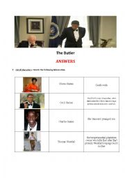 English Worksheet: The Butler PART 2- Answers