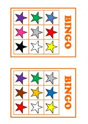 English Worksheet: Colour bingo