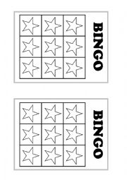 English Worksheet: Colour bingo - make your own!