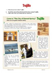 READING ABOUT PERU: TRUJILLO