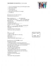 English Worksheet: What makes you beautiful - One Direction Song