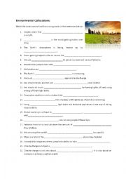 English Worksheet: Climate change collocations