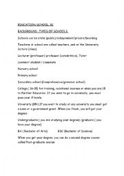 English Worksheet: Education vocabulary B1/B2