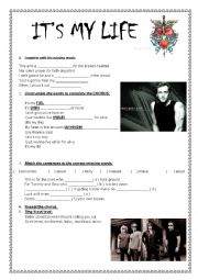 English Worksheet: It�s My Life - Bon Jovi