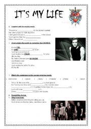 English Worksheet: It�s My Life - Bon Jovi