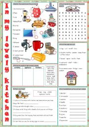 English Worksheet: Kitchen (Vocabulary Exercises)