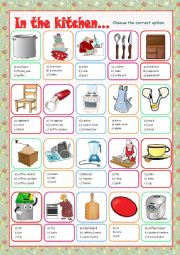 English Worksheet: Kitchen (Multiple Choice)