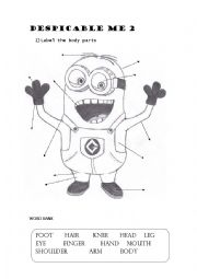 English Worksheet: DESPICABLE ME 2
