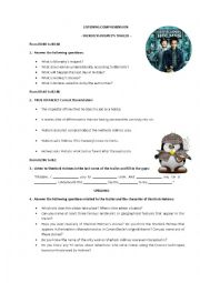 English Worksheet: Sherlock Holmes. A Game of Shadows. Video trailer for listening comprehension