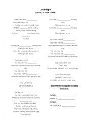 English Worksheet: Jessie J - Laserlight ft. David Guetta