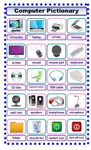 English Worksheet: Computer Pictionary