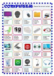 English Worksheet: Computer Multiple Choice