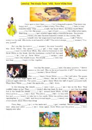 Past  Simple Tense from Snow White Story